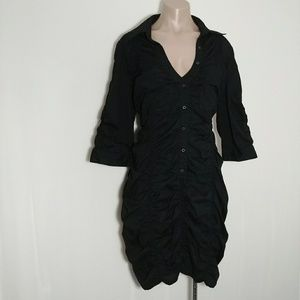Sean John Dresses - + SEAN JOHN CINCHED OVERSIZE BUTTON UP DRESS VNECK